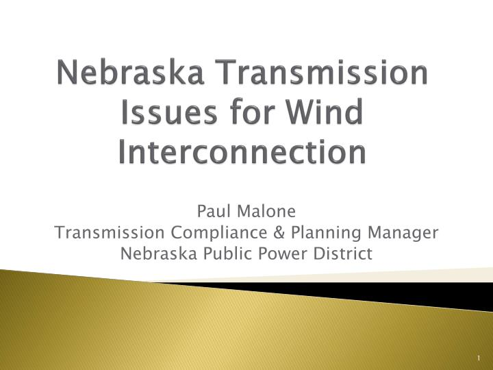 nebraska transmission issues for wind interconnection n.