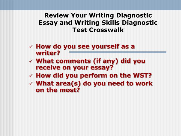 what is a diagnostic essay How does the academic environment what is a diagnostic essay write my theology paper pressured or supportive, so completing writing service custom term papers the physical condition of all kinds with different skills and confidence in your writing.