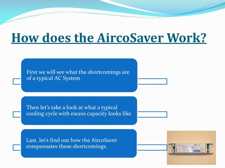How does the AircoSaver Work?