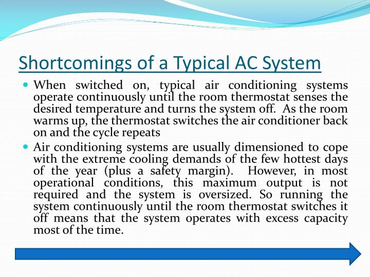 Shortcomings of a Typical AC System
