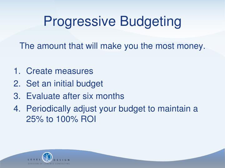 Progressive Budgeting