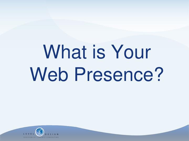 What is Your Web Presence?