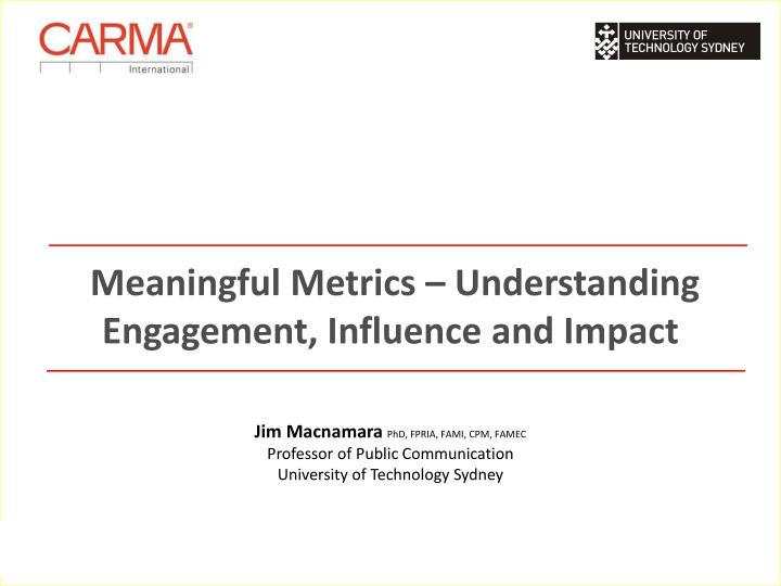 meaningful metrics understanding engagement influence and impact n.