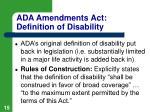 ada amendments act definition of disability