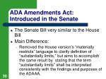 ada amendments act introduced in the senate