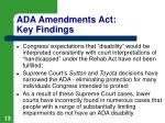 ada amendments act key findings