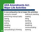 ada amendments act major life activities