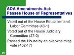 ada amendments act passes house of representatives