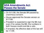 ada amendments act passes the senate