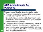 ada amendments act purposes