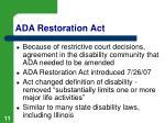 ada restoration act