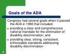 goals of the ada