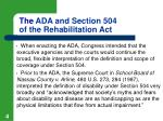 the ada and section 504 of the rehabilitation act