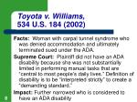 toyota v williams 534 u s 184 2002