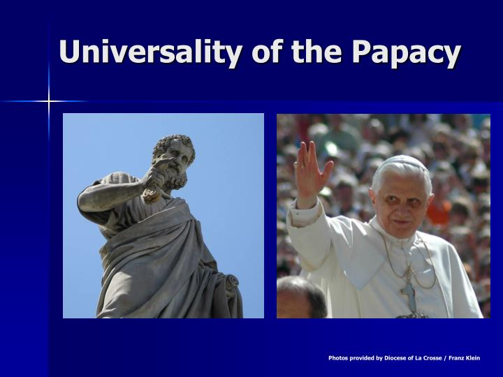 universality of the papacy n.