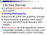 cite your sources