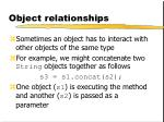 object relationships1