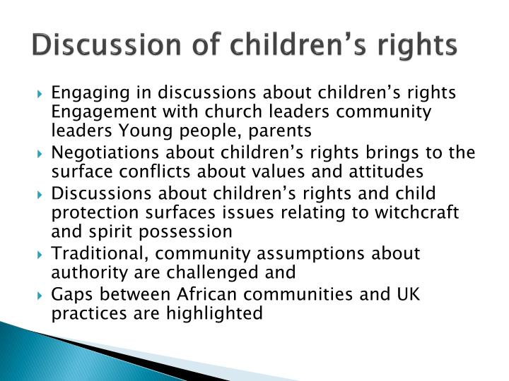Discussion of children's rights