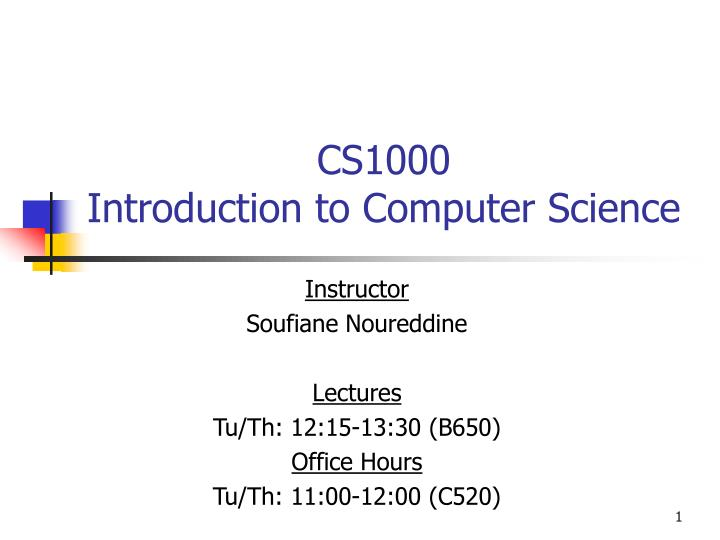 cs1000 introduction to computer science n.