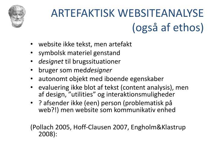 ARTEFAKTISK WEBSITEANALYSE