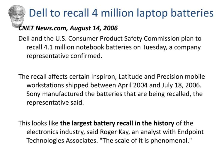Dell to recall 4 million laptop batteries