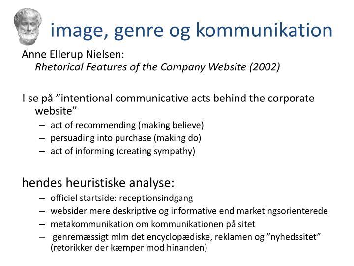 image, genre og kommunikation
