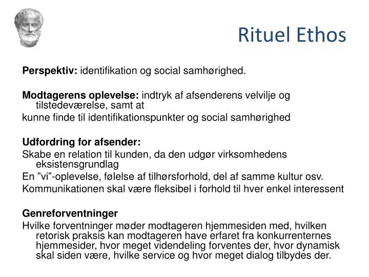 Rituel Ethos