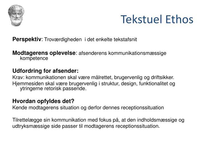 Tekstuel Ethos