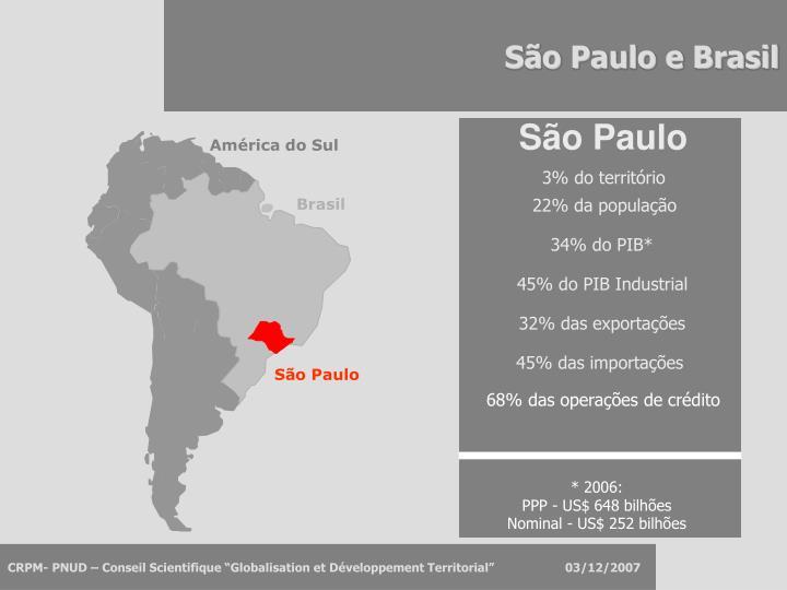 S o paulo e brasil