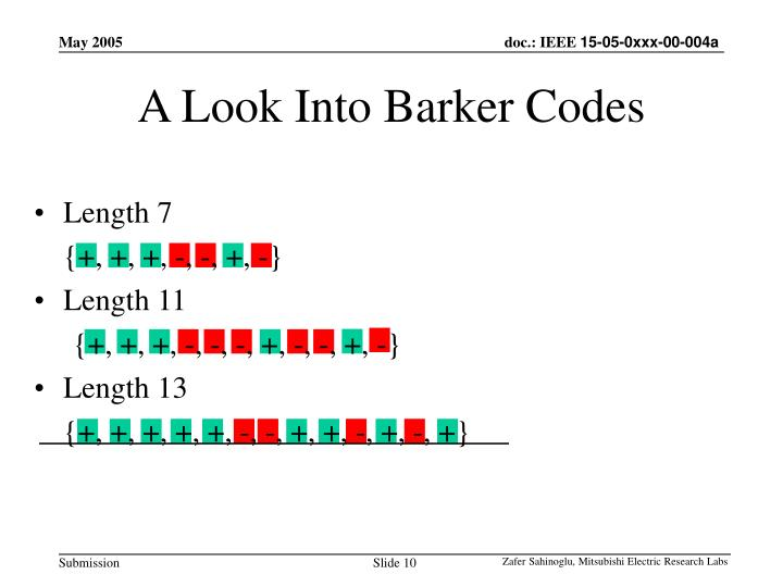 A Look Into Barker Codes