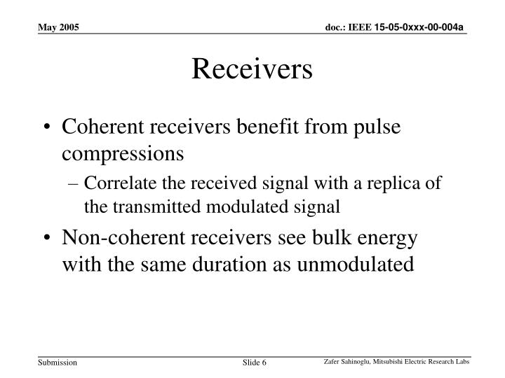 Receivers