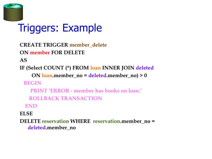 Triggers: Example
