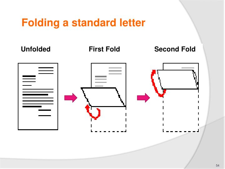 Folding a standard letter