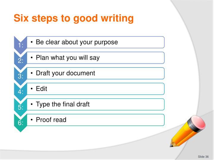 Six steps to good writing