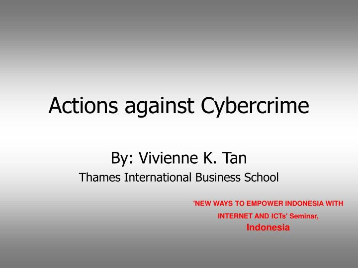 actions against cybercrime n.