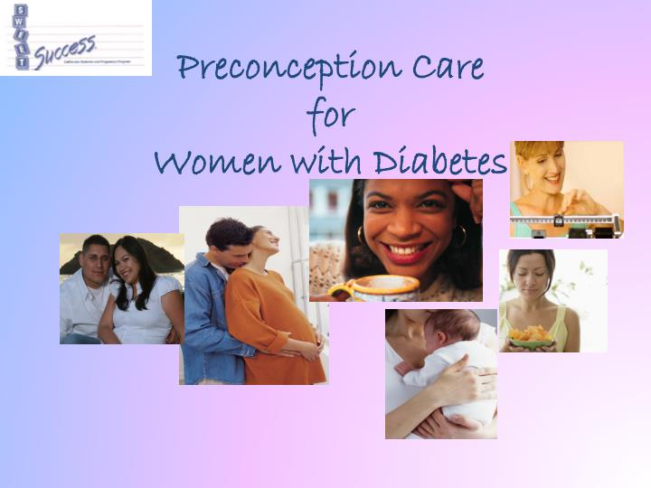 preconception care for women with diabetes n.