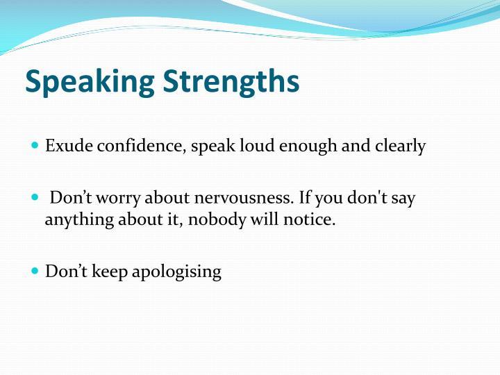 Speaking Strengths