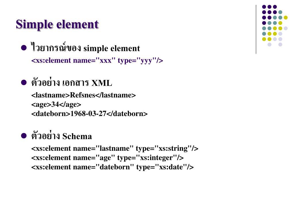 PPT - XML Schema PowerPoint Presentation - ID:1753034