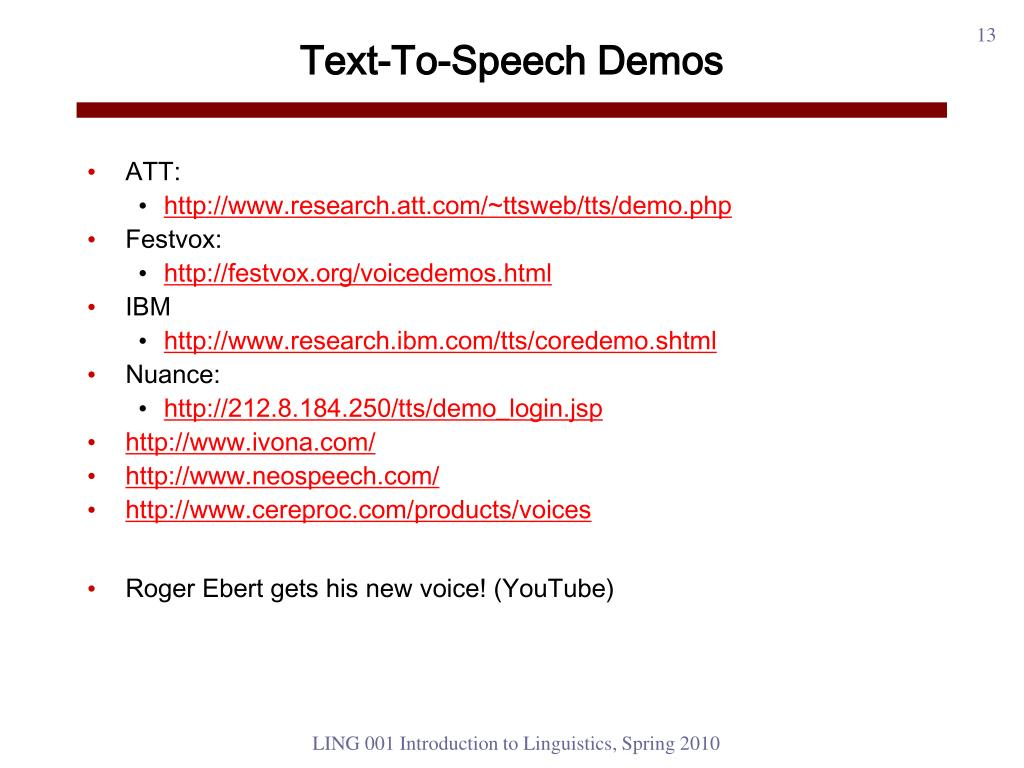 PPT - Computer speech PowerPoint Presentation - ID:1753131