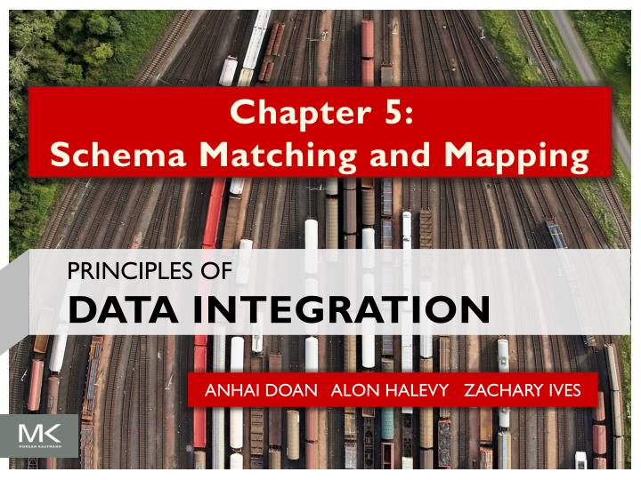 chapter 5 schema matching and mapping n.