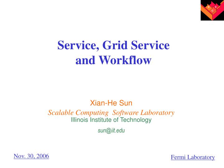 service grid service and workflow n.