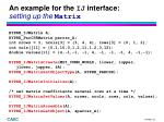 an example for the ij interface setting up the matrix
