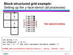 block structured grid example setting up the y face stencil all processes5