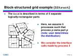 block structured grid example sstruct1