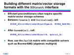 building different matrix vector storage formats with the sstruct interface