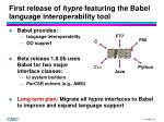 first release of hypre featuring the babel language interoperability tool