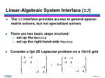 linear algebraic system interface ij