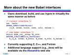 more about the new babel interfaces