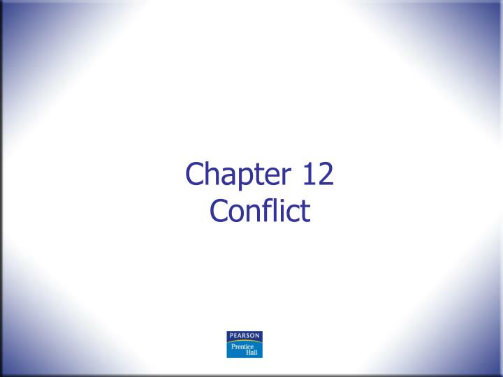 chapter 12 conflict n.