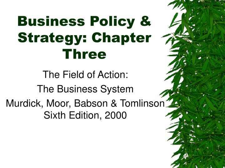 business policy strategy chapter three